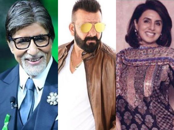 Amitabh Bachchan,  Sanjay Dutt and Neetu Kapoor(Image courtesy: Instagram)