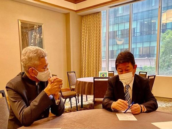 External Affairs Minister S Jaishankar and Japanese counterpart Toshimitsu Motegi