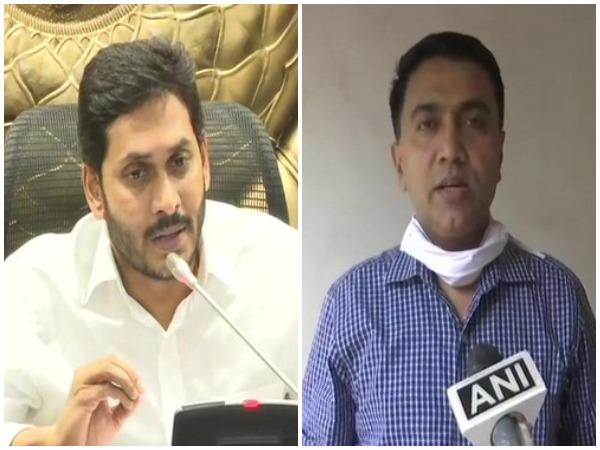 Andhra Pradesh Chief Minister YS Jagan Mohan Reddy (l) and his Goa counterpart Pramod Sawant (File photo)