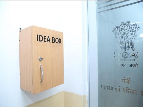 An 'idea box' at Union health ministry in New Delhi