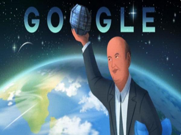Google Doodle of Udupi Ramachandra Rao on his 89th birth anniversary