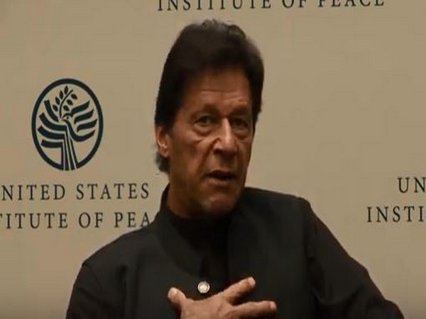 Pakistan Prime Minister Imran Khan at the US Institute of Peace on Tuesday (file photo)