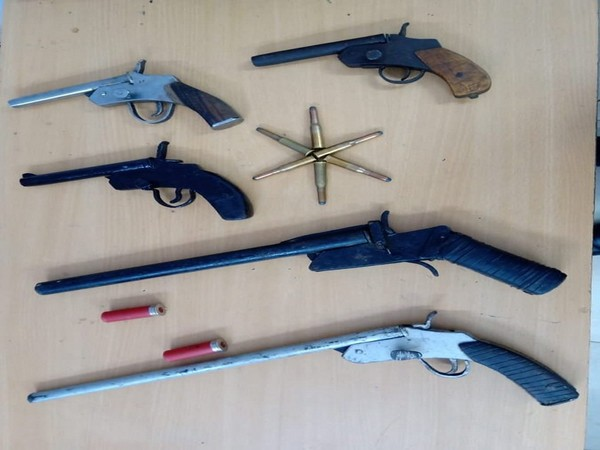 Five firearms along with eight live cartridges were recovered from the supplier. (Photo/ANI)