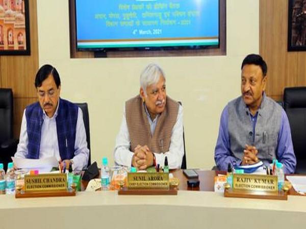 The Election Commission of India held a meeting with Special Observers appointed for upcoming assembly polls in New Delhi on Thursday. [Photo/ANI]