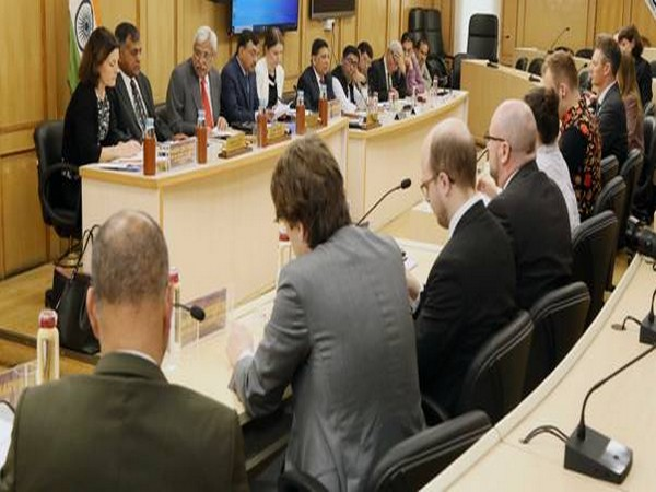 Parliamentary delegation from Sweden at a meeting with CEC, ECs at Election Commission on Wednesday in New Delhi. Photo/ANI