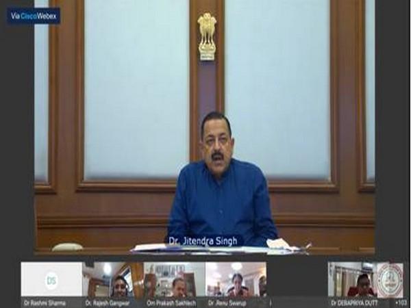 Union Minister Jitendra Singh addressing at the inauguration of 'Vigyan Utsav', in New Delhi on Thursday.