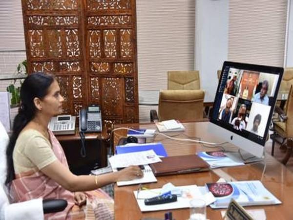 Union MoS Dr Bharati Pravin Pawar during the webinar on Monday.