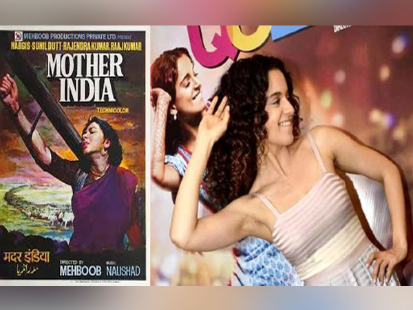 Poster of 'Mother India' and 'Queen'