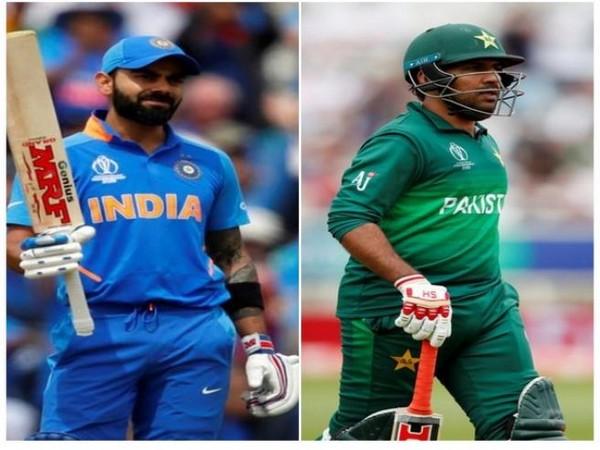 Indian captain Virat Kohli (L) and Pakistan captain Sarfaraz Ahmed (R)