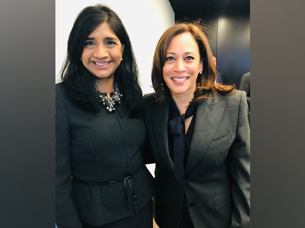 India-born engineer turned politician Aruna Miller and California Senator Kamala Harris