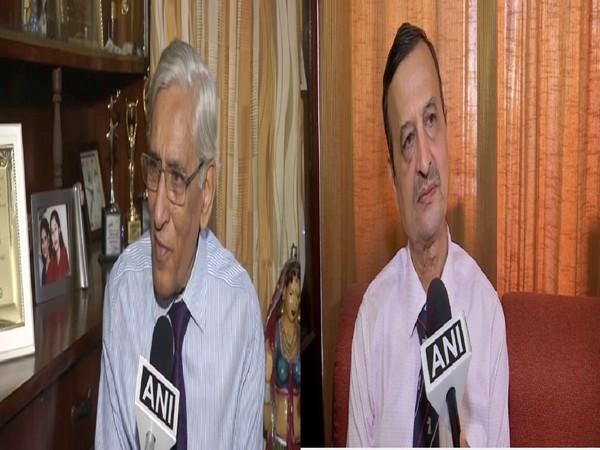 Defence experts PK Sehgal (left) and Hemant Mahajan speaking to ANI on Monday, Photo/ANI