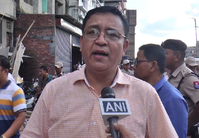 Imphal West Deputy Commissioner Praveen Singh speaking to ANI in Manipur.