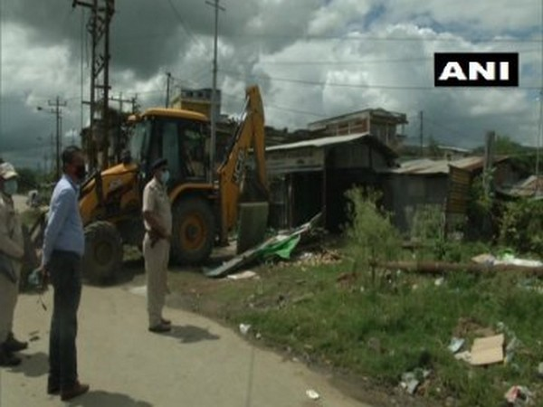 Visual from Imphal eviction drive. [Photo/ANI]