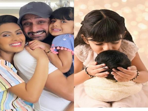Harbhajan Singh, Geeta Basra with their children (Image source: Instagram)