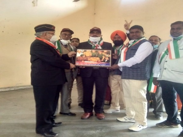 A visual from the event held in UP's Aligarh on Vijay Diwas. (Photo/ANI)