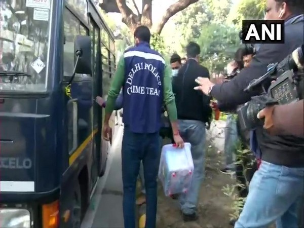 Visual from the incident spot where Delhi Police is carrying out the investigation. (Photo/ANI)
