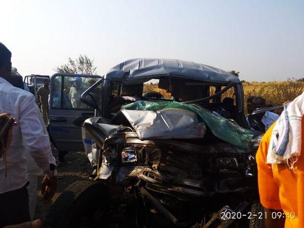 Collision scene in Solapur Maharashtra