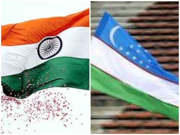 Flags of India (left) and Uzbekistan (right).