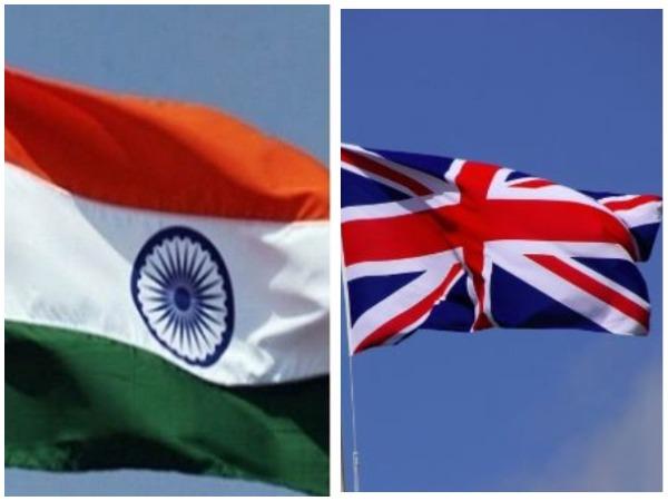 Flag of India (L), UK (R) (representative image)