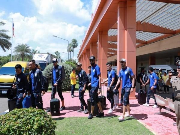 Indian football team arrived in Buriram (Photo/AIFF)