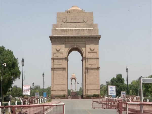 A visual from the India Gate in New Delhi on Tuesday.