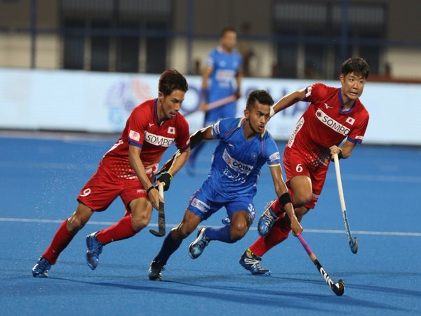 India in action against Japan (Photo/Hockey India Twitter)