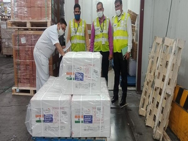 Consignment of Made in India COVID-19 vaccines airlifted for African countries (Photo Credit: Twitter/ Anurag Srivastava)