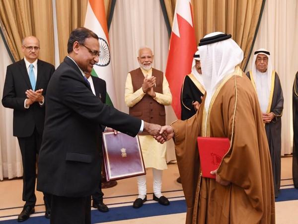 India, Bahrain signed four MoUs on Saturday. Photo/ANI