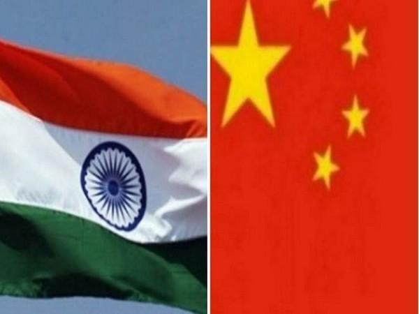 India, China flag