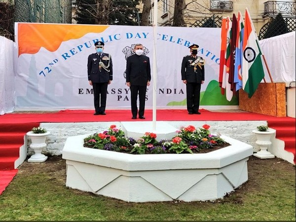 The Indian Embassy in France celebrated the 72nd Republic Day