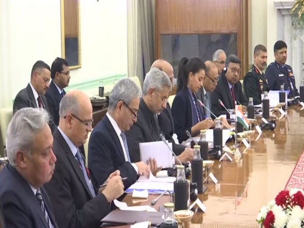 The Indian delegation was led by S Jaishankar and Rajnath Singh at 2+2 ministerial dialogue held in New Delhi on Saturday. Photo/ANI