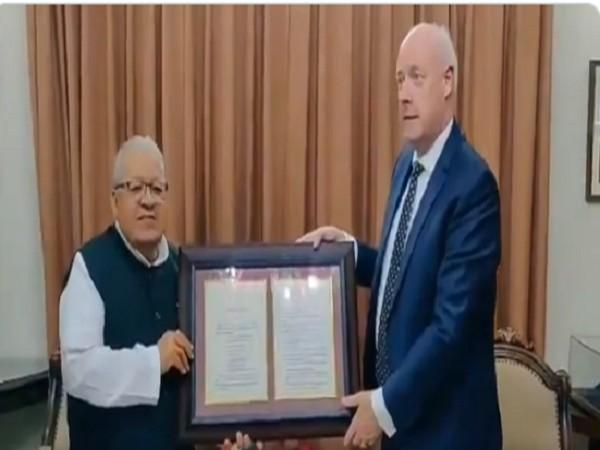 Denmark's Ambassador to India, Freddy Svane met Rajasthan Governor Kalraj Mishra (Photo Credit: Twitter/ Kalraj Mishra)