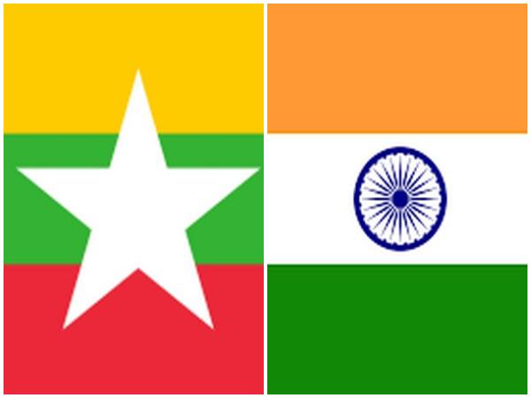 Flags of Myanmar and India. (Representative Image)