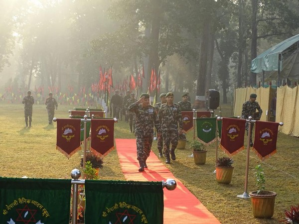 Indian and Nepalese army participate in the joint military exercise on Tuesday