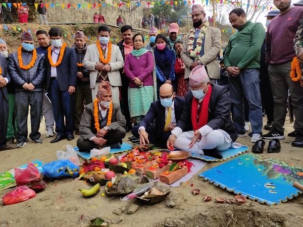 With India's aid, restoration work of Shree Bishnu Devi Secondary School in Nepal begins