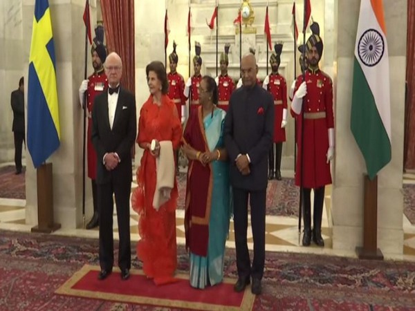 Swedish Royal Couple meets President Ram Nath Kovind in New Delhi on Monday