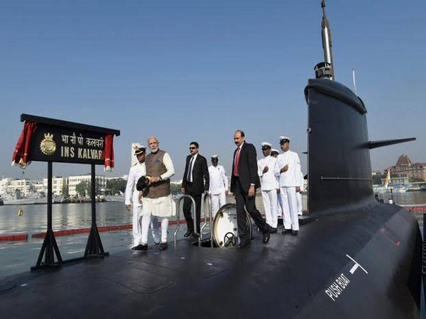 File photo: Prime Minister Narendra Modi on board the INS Kalvari after commissioning it into the Navy in December 2017.