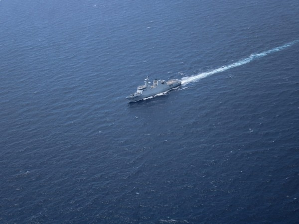 Indian Navy tracked the movement of Pakistan Navy Ship Yarmook from Romania enroute Red Sea to Karachi. Photo/ANI