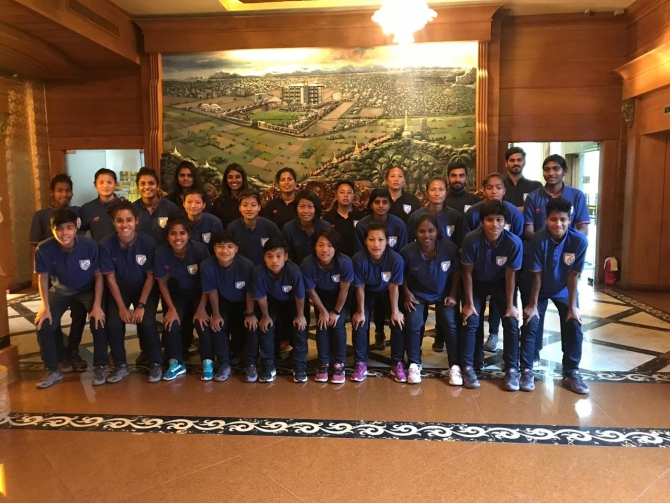 Indian senior women's national team (Photo/AIFF)