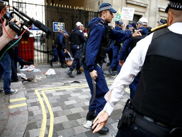 Violent protests were witnessed outside the Indian High Commission in London on August 15.