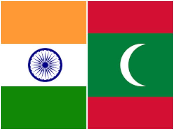 Flag of India (L), Flag of Maldives (R) (representative image)