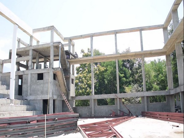 Visual from the constrution site of Indoor Sports Stadium in Tral, Pulwama.