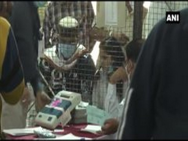 Counting of votes in the bypolls in Madhya Pradesh on Tuesday.  [Photo/ANI]