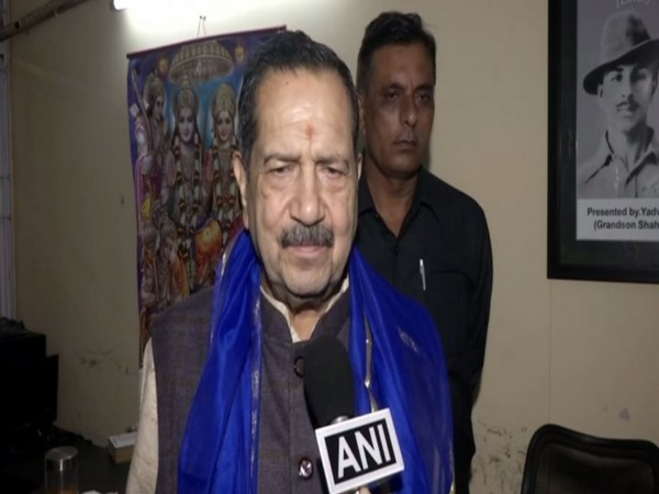 RSS leader Indresh Kumar speaking to ANI in New Delhi on Saturday. Photo/ANI