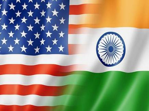 US and Indian flags