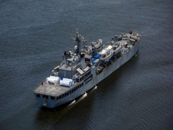 Indian Naval Ships Airavat,Kolkata and Trikand reach India