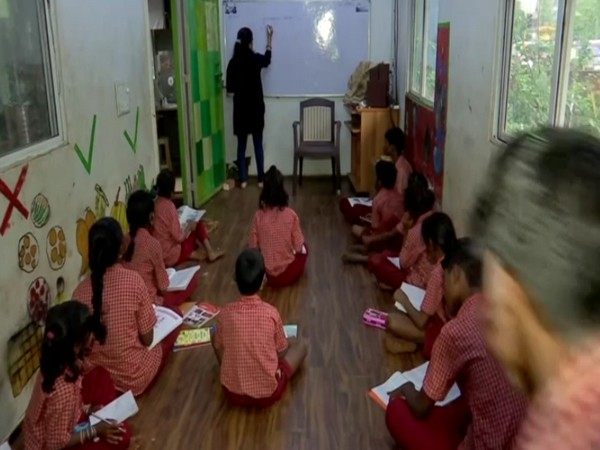 Students studying at a SIGNAL school in Thane. [Photo/ANI]