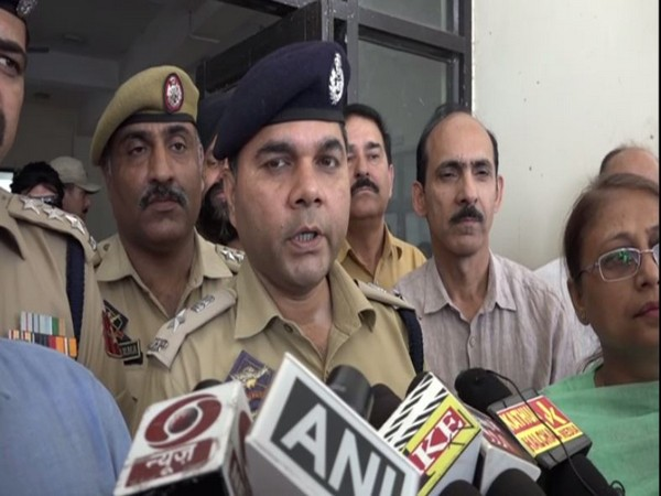 Deputy Commissioner Vikas Kundal speaks to media in Kathua on Friday. [Photo/ANI]