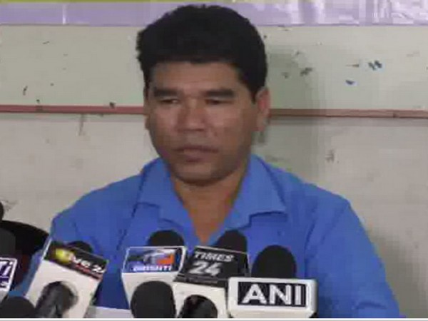 IPFT spokesperson Mongal Debbarma addressing a press conference in Agartala on Tuesday. Photo/ANI