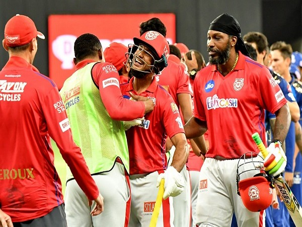 KXIP players celebrating after win against MI. (Image: BCCI/IPL)